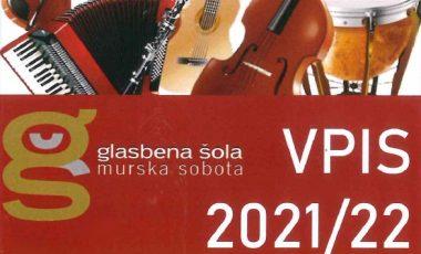 Vpis v glasbeno šolo 2021/22